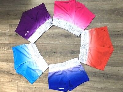Darcy Gymnastic ombre shorts with Diamantes (Leotard) - 26 /28 / 30 / 32