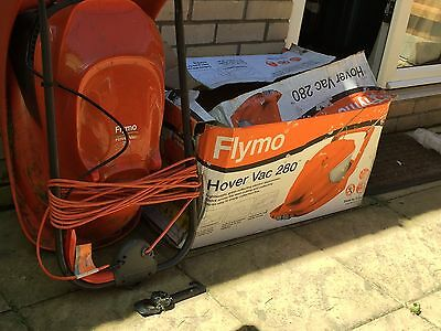 Flymo Hover Vac 280 Hover Mower Lightweight Grass Collecting Lawnmower  1300W