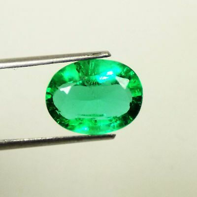 5.75 Ct Natural Certified Oval Cut Beautiful Colombian Green Emerald Gemstone
