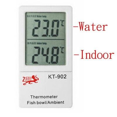 Dual Temperature LCD Display Fish Tank Aquarium Water & Indoor Thermometer ℃/ ℉
