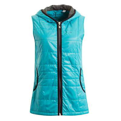 Calvin Klein Ladies Hooded Gilet with Water Repellent Finish in Turquoise