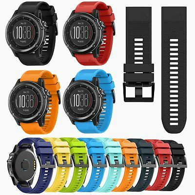 Soft Silicone Wrist Band Strap w/Buckle For Garmin Fenix 3/Fenix 3 HR/3 Sapphire