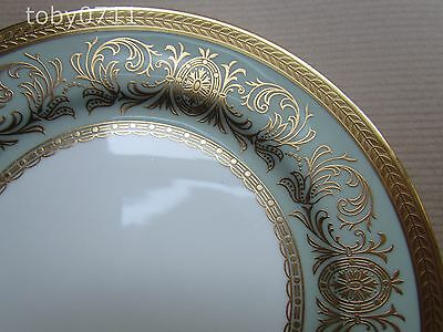 "Aynsley Bone China Imperial Nile Green 6¼"" Side Plates - Mint & 1St Quality"