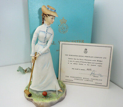 Royal Worcester BRIDGET Boxed with Certificate Victorian Ladies Series Ltd ed