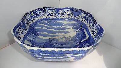 """Booths Silicon China Old Blue Danube Bowl 8 1/4"""" Diameter"""