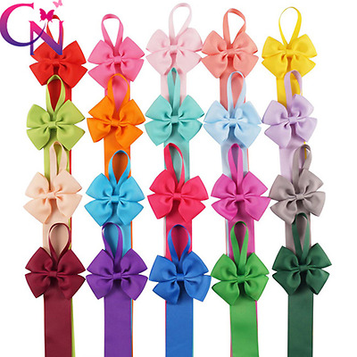 Kids Girl Hair Bow Grosgrain Ribbon Baby Hair Clip Holder Storage Organizer Gift