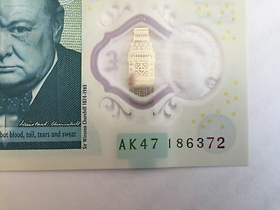 AK4 Bank of England £5 Polymer Note - Excellent condition