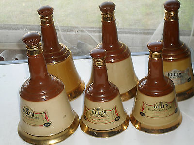 Wade Bells Whiskey Bottles / Decanters X 6