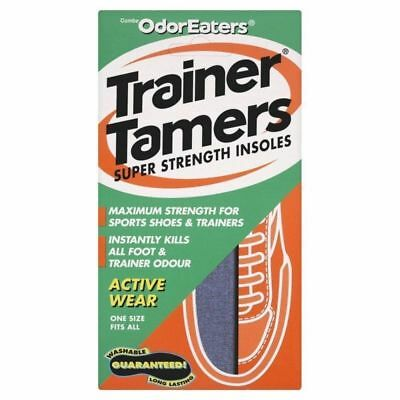 ODOR-EATERS TRAINER TAMERS SUPER STRENGTH INSOLES.WASHABLE**Free Post**