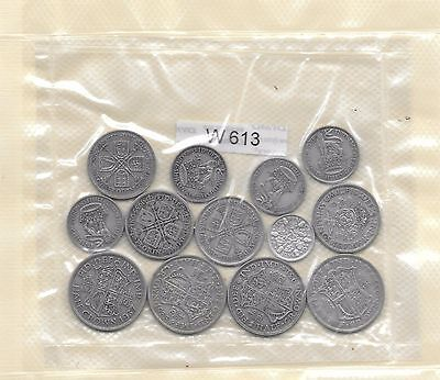 13off. ·500 SILVER COINS