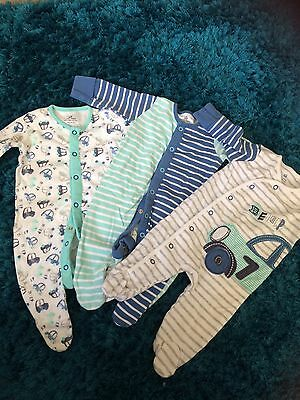 Boys Next Sleepsuits Up To 3 Months