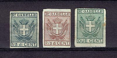 Italy Revenue Stamp Re. Gabelle three different Matches Match Stamps Fiscal Tax