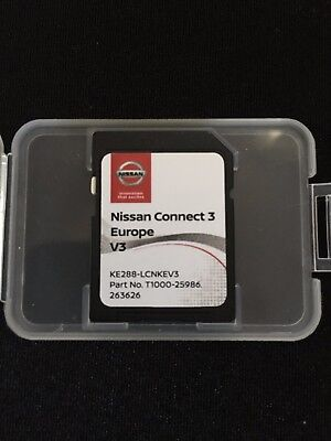 NISSAN CONNECT 3 V2 SD CARD 2017 NAVIGATION MAP UPDATE Micra/Note/Qashqai/juke