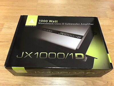 Jl Audio Jx1000.1D Car Mono Subwoofer Amp Amplifier 1000 Watts Rms Class D - New