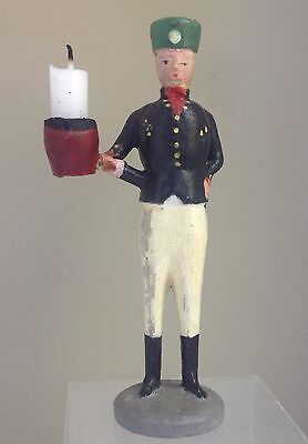 German Erzgebirge Miner/Bergmann w/candleholder hand carved/hand painted 1920s