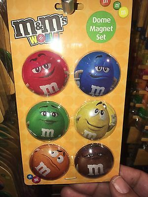 NEW M&M Dome Magnet Set With Characters