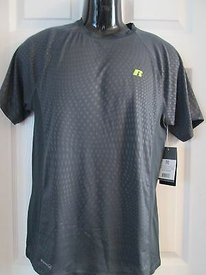 Mens Russel Athletic Fitness Training Fit Dri Power 360 GRAY Shirt Small NEW