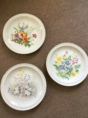 3 China Blosson Collection Plates