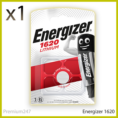 NEW Energizer 1620 CR1620 3V Lithium Coin Cell Battery - DL1620 KCR1620 BR1620