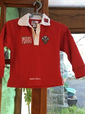 "Wales / Welsh / Cymru Rugby Top Shirt, 16-18"", Magic Kingdom, VGC"