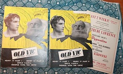 Old Vic Theatre Company Programs Laurence Olivier Ralph Richardson 1946 Oedipus