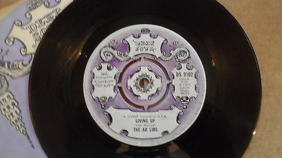The Ad Libs 'giving Up' Ds 9102 Deep Soul 1969 Uk Issue