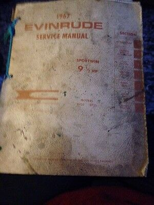 1967 Evinrude Service Manual Sportwin 9.5hp Models 9722 & 9723