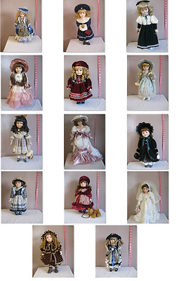 14 Collectable Porcelain Dolls Leonardo Collection H. Samuel Limited Editions