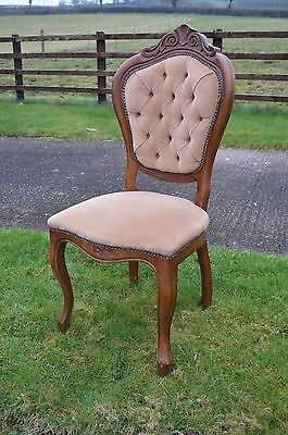 3 x Button Back Chairs in good, original condition