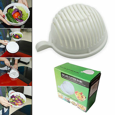 New 2017 60 Second Salad Maker Cutter Bowl Fruit Vegetable Tools Easy Cooking