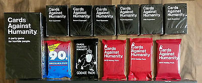 Cards Against Humanity COMPLETE SET! 1-6 Expansions, Holiday/Nostalgia/Science