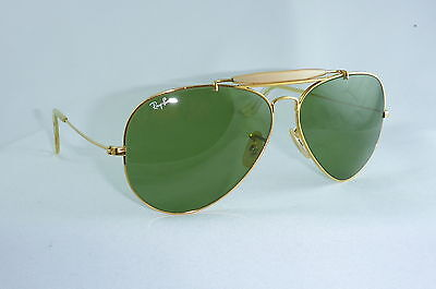 TOP! Ray Ban USA B&l Outdoorsman 62 14 RB 3 Gläser Grün vintage sunglasses