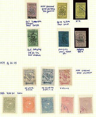 Dominican Republic 1866 1879 1880, Incs #sg19 Mint & Used: Ra Carter Collection