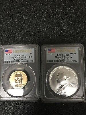 2015 Harry S. Truman Coin And Chronicles Coin Set MS/PF-69,Reverse Proof