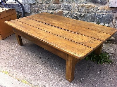 Ancienne Table basse de ferme-Antique French Coffee Table-Rustic style-upcycled.