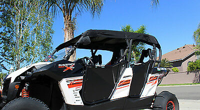 New! 2014-17 CAN AM MAVERICK MAX / COMMANDER MAX 1000 BLACK UTV SOFT TOP ROOF