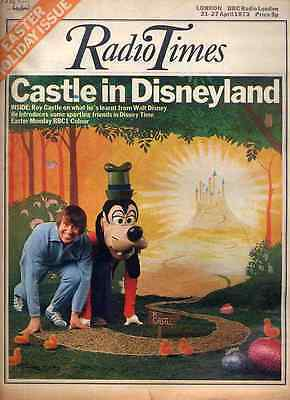 Radio Times 21 Apr 1973 Disney Time Roy Castle Cover . Easter Issue . Doctor Who