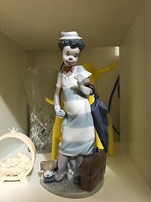 Lladro Clown #5838 Rare Black Legacy Collection