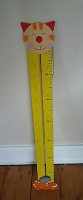 Wooden Cat and Mouse Child Height and Growth Chart Ruler