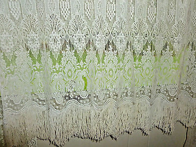 "5 Antique milanese bobbin lace  Panel Collection  40""x 80"""