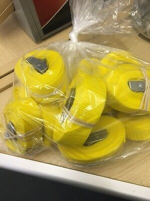 8ft Cam Buckle Strap X 10 Yellow