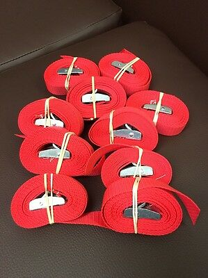 8ft Cam Buckle Strap X 10 Red