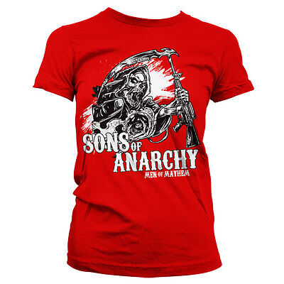 Officially Licensed Sons of Anarchy Charming Reaper Women T-Shirt S-XXL Sizes