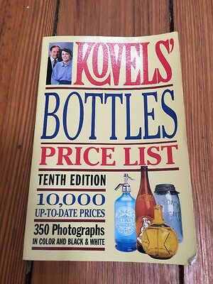 Kovels Bottles Price List - 10th Edition