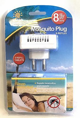 Mosquito Insect Repellent 2 Pin TRAVEL PLUG IN & REFILL - LASTS 36 DAYS