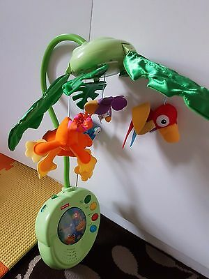 Fisher-Price Rainforest Peek-A-Boo Leaves Musical Mobile with box