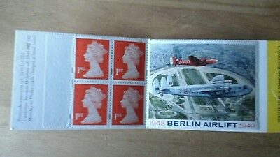 Stamp Booklet 4 x 1st + Berlin Airlift Label - Barcode Booklet