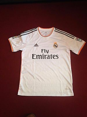 mens adidas real madrid football top white soccer size extra large xL spain
