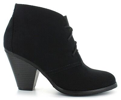 Women Fashionable Black Ankle Boots Size 12 Wide