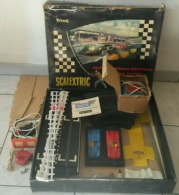 coffret aston martin scalextric slot car vintage 60's 1/32 made in france